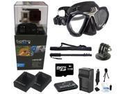 GoPro Hero 3+ Black Edition + XS Scuba Diving Mask + 32GB Underwater Scuba Diving Snorkeling Kit