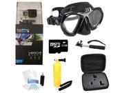 GoPro Hero 4 Black Edition Camcorder + Basic XS Scuba GoMask Accessory Package