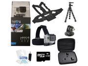 GoPro Hero 4 Black Edition Camcorder + Extreme Sport Accessory Bundle