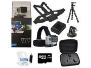 GoPro Hero 4 Black Edition Camcorder + Extreme Battery Holiday Bundle Package