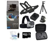 GoPro Hero 4 Silver Edition Camcorder + Extreme Battery Holiday Bundle Package