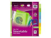 Avery Consumer Products AVE11901 Insertable Tab Dividers- Plastic- 8-Tab- Multi-Color