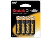 KODAK XLAA8 Xtralife(TM) Alkaline Batteries (AA&#59; 8 pk)