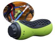 Iwerkz® Bottle Blaster™ - portable, rechargeable Bluetooth® Bike Speaker, with MicroSD Card slot, and AUX Input - perfect for home and outdoors, biking, hiking, camping and more (Lime Green)!