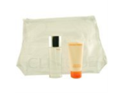 HAPPY by Clinique Gift Set for WOMEN: EAU DE PARFUM SPRAY 1.7 OZ & BODY CREAM 2.5 OZ & BAG