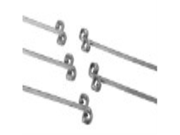Charcoal Companion Cast Iron Modern Grilling Kabob Skewers, Set of 4