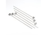 Outset QS80 Stainless-Steel Barbecue Skewers, Set of 6