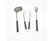 Charcoal Companion Golf Club 3-Piece Barbecue Tool Set
