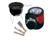Jim Beam JB0105 5-Piece Mini Cooler & Grill combo Set with BBQ tools