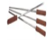 Outset QB50 Stainless-Steel Skewers with Rosewood Handles, Set of 4