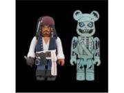 Medicom Pirates Of The Caribbean: Jack Sparrow Kubrick & Barbossa Bearbrick 2-Pack