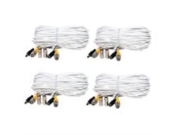 VideoSecu 4 Pack 66ft Feet Security Camera Video & Power BNC Cable for Home Surveillance System with Free BNC RCA Connectors CBJ