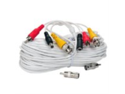 VideoSecu 100ft Video Audio Power Cable BNC RCA CCTV Security Surveillance DVR Camera Cable Wire A27