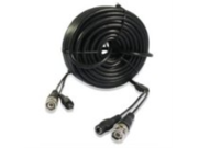 Zmodo Cable W-VP1015 15M 50 feet Pre-Made Surveillance AWG-24 CCTV BNC Video 5.5mm Power Cable