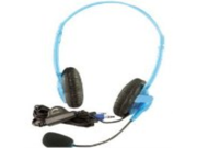 New - Califone Blueberry Stereo Headphone With Mic - Multimedia