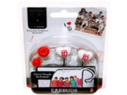1D One Direction Red/Black/White Heart Shaped Ear Buds