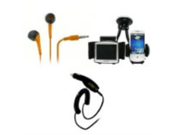 EMPIRE Samsung Galaxy S III 3 3.5mm Stereo Earbud Headphones (Orange) + Car Windshield Mounts + Car Charger [EMPIRE Packaging]