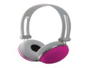 Sentry HO276 Retro High Performance Stereo Headphones, Pink