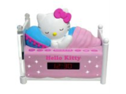 Exclusive Hello Kitty KT2052 Sleeping AM/FM Clock Radio with Night-Light By SPECTRA