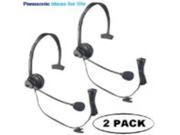 Panasonic Hands-Free Headset with Comfort Fit Headband 2 Pack For The Panasonic KX-TG6434PK & KX-TG6444PK DECT 6.0 Cordless Phone w/ Call Waiting Caller ID & Answering System Metallic Black