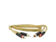 3 GoldX PlusSeries GXAV-LR-03 2-Channel (M) to (M) Composite Analog Audio Cable w/24K Gold-Plated Connectors