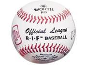 Worth RIF5L 9-Inch Leather Cover NOCSAE Little League Stamped White Baseball (Pack of 12)
