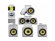"""Acoustic Audio HD518 In-Wall/Ceiling Home Theater 8"""" Surround 5.1 Speaker System"""