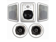 Acoustic Audio HT-55 1000 Watt 5.1CH In-Wall/Ceiling Home Theater Speaker System