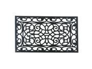 """Orion Outdoor Cast Iron Door Mat - 18"""" x 30"""" Decorative Rubber Doormat"""