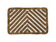 """Herringbone Outdoor Scraper Door Mat - 16"""" x 24"""" Coir Boot Brush Scraper"""