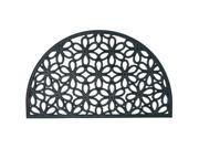 """Spring Bouquet Outdoor Cast Iron Doormat - 18"""" x 30"""" Decorative Half Round Door Mat"""