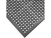 Rubber-Cal Dura-Chef Jr. Non-Slip Rubber Kitchen Mat - 1/2 inch Thick x 3ft x 5ft