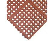 Rubber-Cal Dura-Chef Interlocking Anti-Fatigue Floor Mat - 5/8 inch Thick x 3ft x 3ft