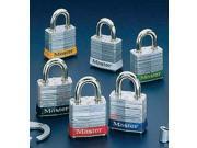 Master Lock Green #3 Laminated Steel Pin Tumbler Padlock - Keyed Differently