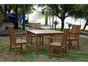 """Anderson Teak Windsor 47"""" Square Table &  4 Chicago Armchairs"""