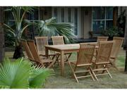 "Anderson Teak Windsor 47"" Square Table &  4 Classic Folding Chairs"