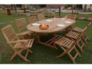 Anderson Teak 87 inch Oval Extension Table & Chairs