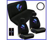 Blue Dolphins Seat Cover Set – 11pc Full Interior