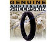 Black Sheepskin Steering Wheel Cover – Plush Wool Comfort – Genuine