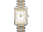 Bulova Diamond White Dial Two-tone Stainless Steel Bracelet Mens Watch 98E111