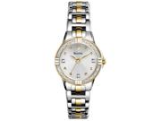 Bulova Diamond Silver Dial Two-tone Ladies Watch 98R166