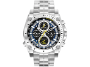 Bulova Precisionist Chronograph Black Dial Stainless Steel Mens Watch 96B175
