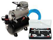 All-Purpose G33 DUAL-ACTION AIRBRUSH KIT Air Compressor