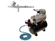 Master Gravity Dual-Action AIRBRUSH KIT Air Compressor w/ Tank Hobby Cake Tattoo