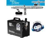 Iwata Eclipse HP-BCS Airbrushing System with Smart Jet Pro Air Compressor