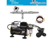 IWATA Eclipse HP-CS AIRBRUSH Smart Jet AIR COMPRESSOR Hobby Tattoo Cake Paint