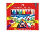 New Faber Castell Erasable Crayons 15ct Drawing Art