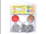 SNAZAROO Face Paint Painting Stamp Kit Xmas #1 1/Santa 1/Candy Cane 1/Reindeer