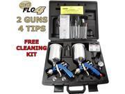 2 Gun Devilbiss FINISHLINE 4 HVLP Spray Gun MASTER KIT-1.3 1.5 1.8 2.2 Regulator