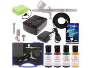 CAKE DECORATING AIRBRUSH & AIR COMPRESSOR KIT Rechargeable Battery 4 Food Colors